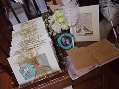 Finished Product! Lovebirds themed bridal shower rustic vintage DIY Gifts Favors