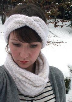 The Homestead Survival | Knitting A Headband Ear Warmer and Neck Cowl | Knit - Homesteading - DIY - Craft - http://thehomesteadsurvival.com