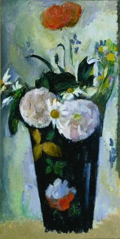 Paul Cezanne / The Dark Blue Vase, III / oil on canvas / c. 1880 (impressionism)