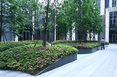 SOHO BUND | Shanghai China | Integrated Planning and Design (IPD) #soho #bund #shanghai #retail #mixeduse #landscapearchitecture #planting