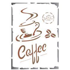 Stencil de Acetato para Pintura OPA 15 x 20 cm - 1753 Coffe - CasaDaArte