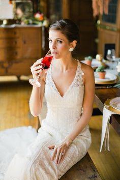 monet inspired wedding shoot