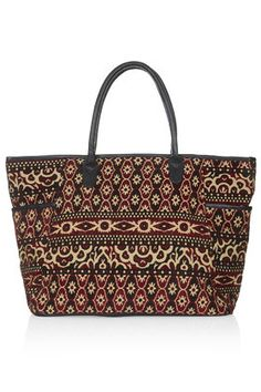 Topshop Tapestry Luggage Bag