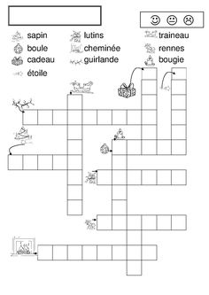 mots fl ch s No l noel mots fl ch s Core French, French Class, French Lessons, Christmas Worksheets, Christmas Activities, French Teacher, Teaching French, How To Speak French, Learn French