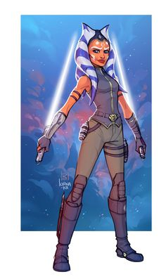 by lorna-ka - Ashoka's Siege of Mandalore design as revealed in Ahsoka's Untold Tales panel at SWCE