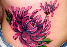 Beautifully done chrysanthemum tat