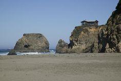 Mendocino Coast - House on rock