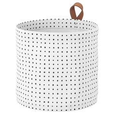 IKEA - PLUMSA, Storage basket, white, black, The plastic coating on the inside protects against moisture. Ikea Basket, Ikea Must Haves, Billy Regal, Apple Baskets, Ikea Usa, Plastic Coating, Ikea Family, Laundry Hamper, Black And White