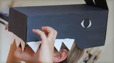 Easy wolf mask made from a shoebox (via grandir avec nathan) note site is in French