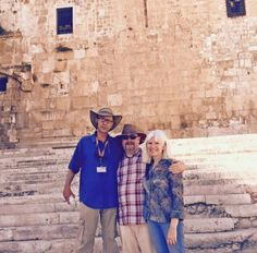 Our Tour Guide Ami Giz travelling with Mr and Mrs.Goerzen from the US in Jerusalem. #ibookisrael #Israel #Jerusalem