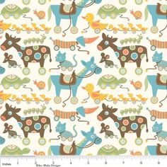 This is an adorable children's print by Riley Blake. It is from the Mod Tod collection. It has all sorts of retro toys on it. The colors are suitable for a boy or a girl. This fabric is sol. Retro Fabric, Blue Fabric, Fabric Ribbon, Drapery Fabric, Fabric Shack, Fabric Empire, Modes4u, Vinyl Fabric, Retro Toys