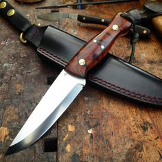 Moorlander Bushcraft knife, RWL-34 Desert Ironwood.