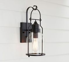 Taylor Indoor/Outdoor Sconce | Pottery Barn  Exterior