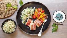 I denne oppskriften finner du mye spennende. Torsk bakt med parmaskinke, ris laget av blomkål, og stekte grønnsaker. Sunt og godt.