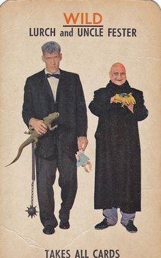 'The Addams Family' Card Game. The Lurch and Uncle Fester Wild Card. This one always creeped me out.