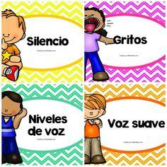 Los niveles de voz en el aula