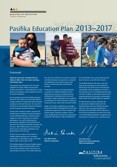 Pasifika Education Plan - vital reference for using when working with Pasifika families.