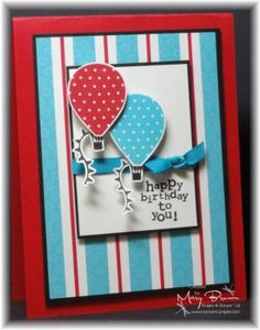 hot air balloon stampin up - think i would do different colors though