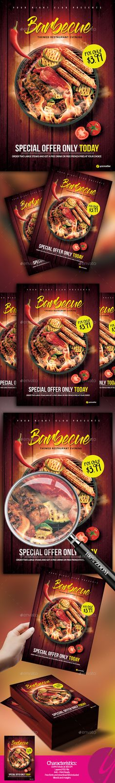 barbecue restaurant flyer by yczcreative barbecue restaurant e 20flyer special designed for your locationcharacteristics