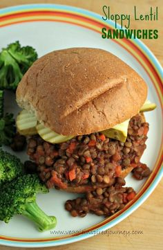Sloppy Lentil Sandwiches - sweet, smoky, tangy and veggie packed. Reminiscent of your favorite messy childhood sandwich. Kid and Hubby approved!! #vegan #dairyfree #healthy #kidfriendly