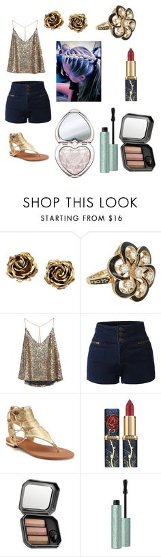 """""""Untitled #340"""" by wwefangirl2020 ❤ liked on Polyvore featuring Tiffany & Co., Vintage, LE3NO, Apt. 9, Benefit and Too Faced Cosmetics"""