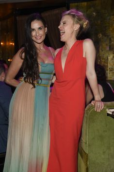 Demi Moore and Kate McKinnon attend New York Premiere of Sony's ROUGH NIGHT After Party presented by SVEDKA Vodka at Diamond Horseshoe on June 12, 2017 in New York City.