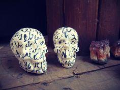Ceramics piece - mayolica. Skull by Sophia Lenzi