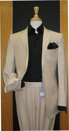 Mens & Boy's Sizes Two Button Sand ~ Khaki ~ Natural ~ Flax Color Linen Feel Touch Poly Rayon Wrinkle Touch Super Light Weight Suit Best Dressed Man, Sharp Dressed Man, Toddler Suit Wedding, Business Fashion, Business Suits, Business Casual, Business Formal, Business Professional, Professional Women