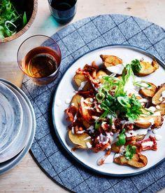 Kimchi potatoes with spring onions recipe, Knee Deep, WA :: Gourmet Traveller
