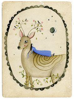 Stargazing  Art Print by LilyMoon on Etsy