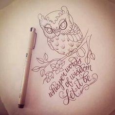 Idea Tattoo Baby Owl♥