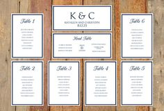Wedding Seating Chart Template  Download by DiyWeddingTemplates, $16.00