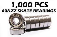 Bearings 36624: 1000 Skate Ball Bearing 608Z 8X22x7mm Shielded Bearings -> BUY IT NOW ONLY: $299.95 on eBay!
