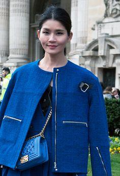 Paris Street Style : Blue Chanel - by Lelook