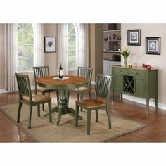 Steve Silver Candice Two Tone Round Pedestal Dining Table - Dining Tables at Hayneedle $250