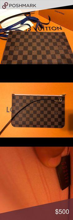 fef0096a4153 Auth Louis Vuitton pouchette (wristlet  clutch)