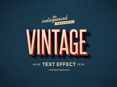 visualvibs:  Retro Vintage Text Effects by Roberto Perrino. This graphic resource gives you a quick & easy possibility to apply an high quality retro / vintage / old style to your text. You can use it on simple text, shapes and vector logo. You just need to replace them into the smart object of your favourite style included. Create a great poster or flyer, a facebook cover, a magazine title or a website banner and give them the vintage touch. Download it here: http://bit.ly/1wTtD3M
