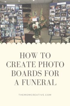 Funeral ideas to share memories. How to create photo boards. # funeral How to Create Photo Boards for a Funeral (or Other Celebration) Photo Collage Board, Picture Boards, Picture Walls, Photo Collages, Wall Collage, Funeral Planning, Funeral Ideas, Funeral Gifts, Funeral Posters