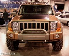 Front end JEEP Commander tow hooks, grill guard