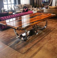 Walnut Epoxy table by Lara Wood!!!