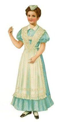 Victorian scrap nurse or maid?