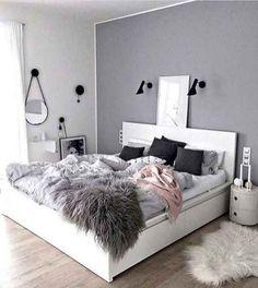 Ideas for bedroom design ideas dream rooms grey Girls Bedroom Colors, Bedroom Color Schemes, Colour Schemes, Modern Master Bedroom, Small Room Bedroom, Teen Bedroom, Modern Bedrooms, Small Rooms, Deco Rose
