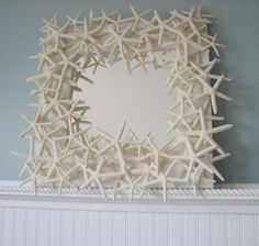 beautiful..... against a beach blue wall   http://www.etsy.com/listing/51323780/starfish-mirror-beach-decor-shell-mirror?ref=sr_gallery_27_search_query=beach+shell+home+decor_view_type=gallery_ship_to=ZZ_min=0_max=0_page=4_search_type=all