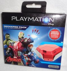 PlayMation Marvel Avengers Recharge Pack Power A Connects To Activator NIB #Disney