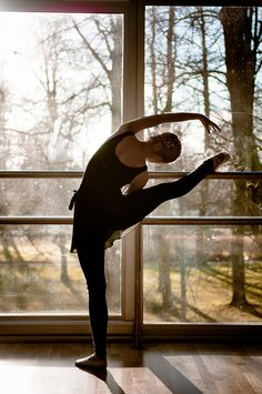 At the ballet barre