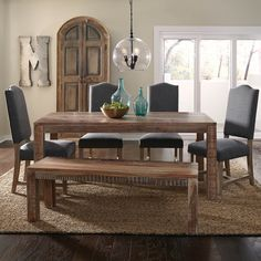 Shop unique dining benches and dining table seating options. Great for gatherings or kids, dining benches provide a great seat that will compliment your table. Modern Dinning Table, Dining Room Bar, Dining Bench, Dining Chairs, Bed Bench, Kitchen Tables, Dining Rooms, Fine Dining, Dining Area
