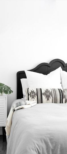 Say hello to my new favorite pillow! Handcrafted in Oaxaca, Mexico, this long lumbar pillow features bold, Zapotec tribal patterns in modern black and white. This pillow took all the guesswork out of finding the perfect pillow combinations – with this one piece, your room will take on a whole new look. #ad