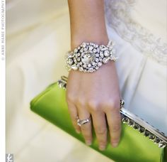 Lime green clutch!