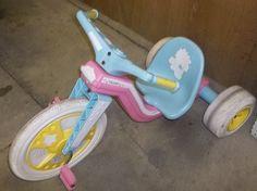 Vintage Girls Big Wheel Powder Power Tricycle Local Pick Up Only Used | eBay