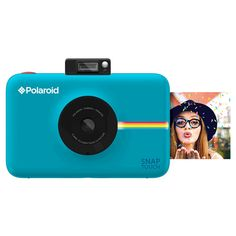 Polaroid Snap Touch Blue Instant Print Digital Camera with 3.5 Touchscreen Display, White